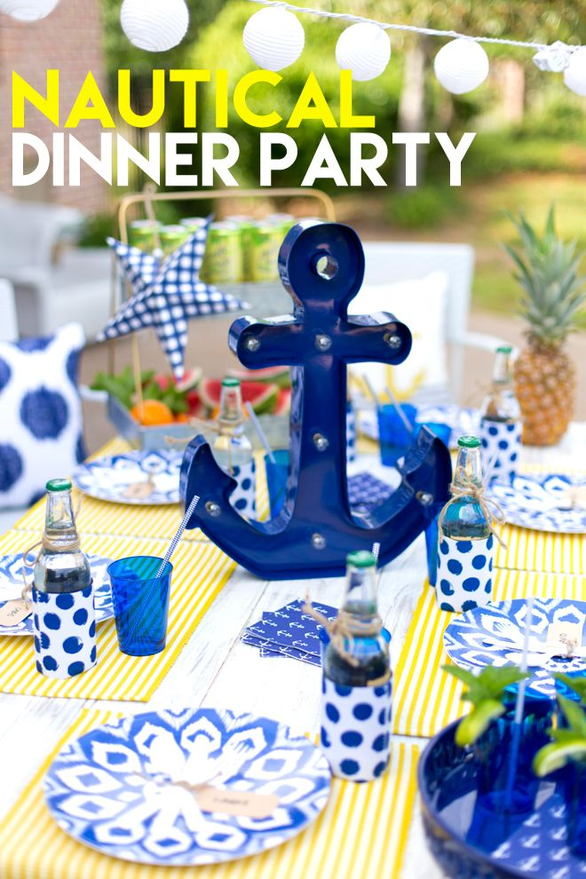 Tips for styling the perfect Nautical Dinner Party! Pizzazzerie.com @target #targetcrowd #ad