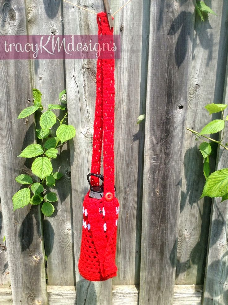 Patriotic Canada Water Bottle holder with adjustable shoulder strap!  $9 + shipping.  Other colours available