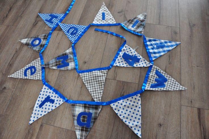 Hoera! vlaggenlijn met naam en verwisselbare leeftijd. #Lef #vlaggenlijn #verjaardag #hoera #4jaar www.facebook.com/hebaltijdlef