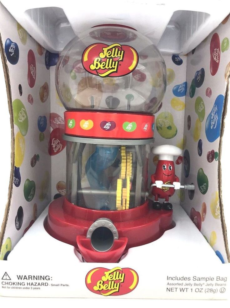 NEW Jelly Belly Mr. Jelly Belly Bean Machine Candy Vending Dispenser + Sample #JellyBelly
