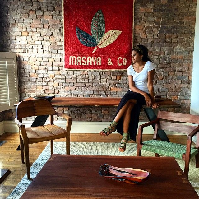 Our lovely Founder Abril in the Nashville store  All of our beautiful  modern wood furniture. 10 best Custom Furniture by Masaya   Co  images on Pinterest