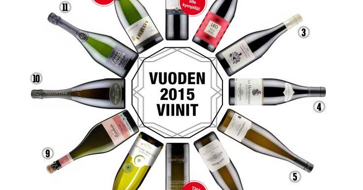 Edullista punkkua vai hyvän hinta-laatusuhteen samppanjaa? Glorian Ruoka & Viini valitsi vuoden 2015 parhaat viinit.