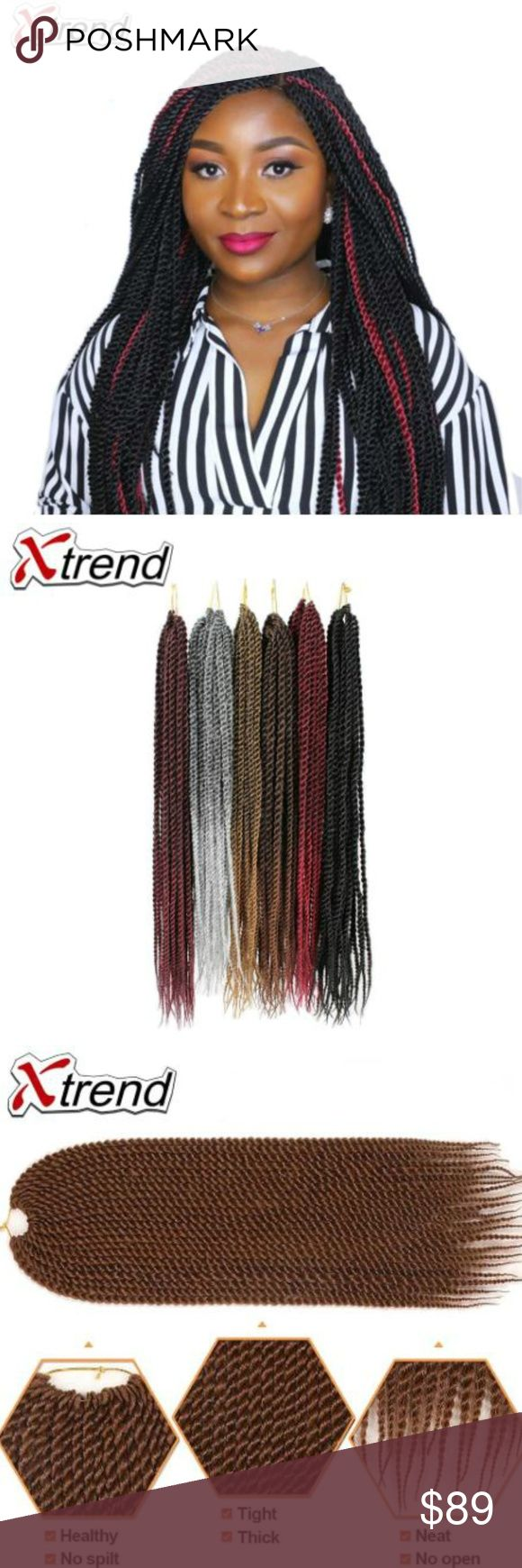 Synthetic Hair For Braiding Senegalese Twist Hair Xtrend 14 18 22 inch 30roots S…