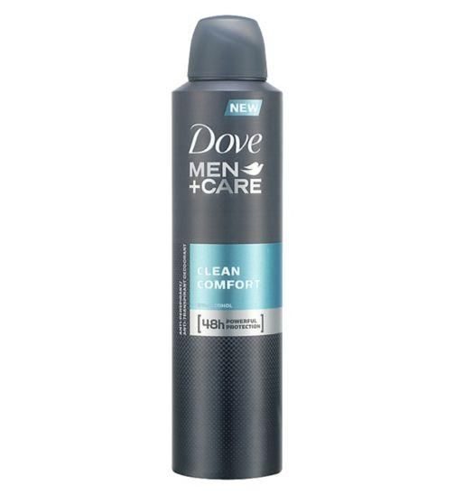 Dove Men+Care Clean Comfort Anti-Perspirant Deodorant Spray that has a subtle, crisp scent, contains a unique formula that combines powerful anti-perspirant ingredients and advanced 1/4 moisturiser technology. #grooming #style #fashion