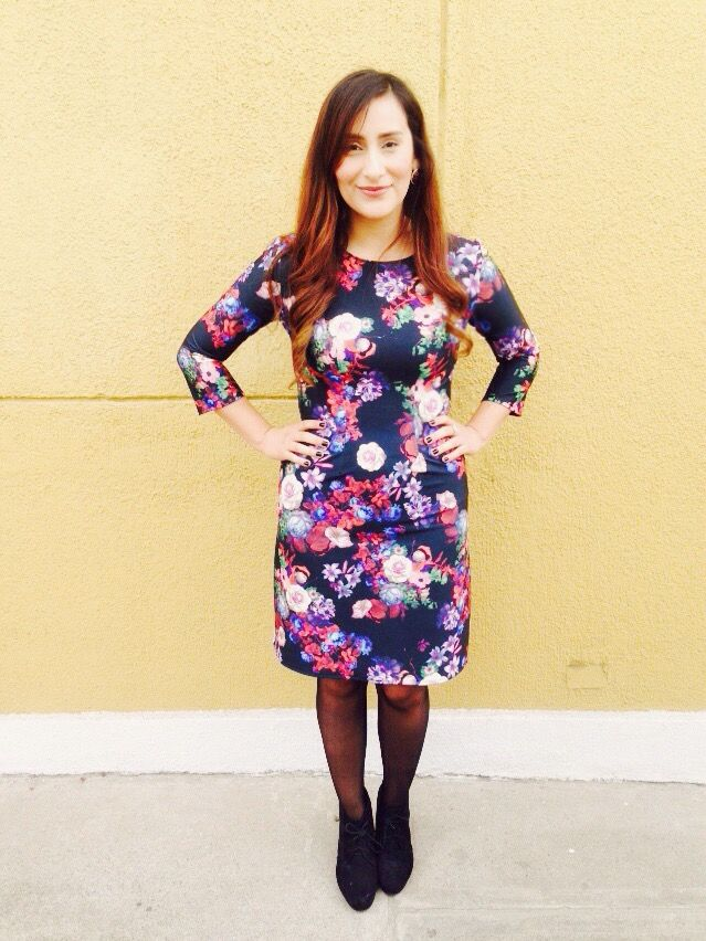 Floral pencil dress lds modest