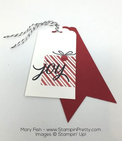 Stampin Up Holiday Gift Tags Your Presents by Mary Fish Christmas