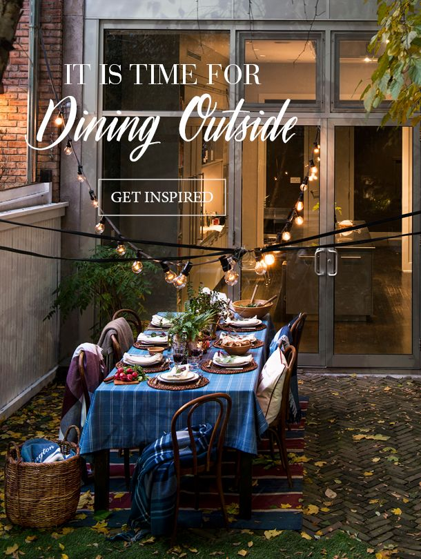 Do you want to set your table up outside? Then get inspired by our story. These mild evenings are one of the best parts of fall, and we love to embrace those moments by setting the dinner table outdoors.