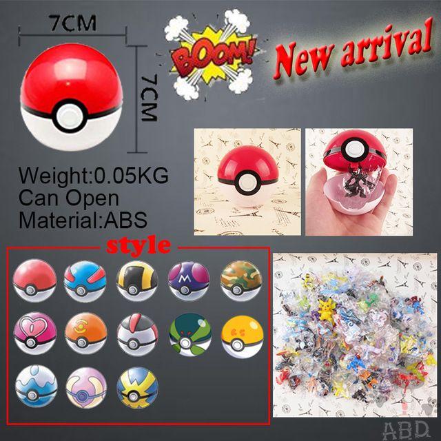 Pokemon 7 см Pokemon PokeBall Игрушки 13 Стили Аниме Pokeball Juguetes Идти Рисунки ABS Фигурку Супер Мастер Покемон Мяч малыш