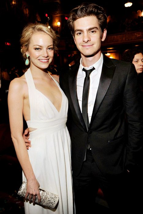 Emma Stone and Andrew Garfield attend the 66th Annual Tony Awards on June 10, 2012 in New York City. Credit: Kevin Mazur/WireImage.com