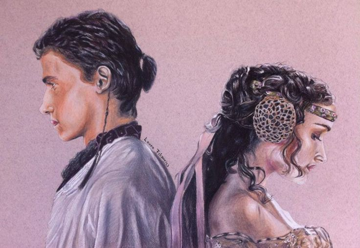 Drawing of Anakin and Padme from Star Wars. I used Prismacolor Premiers!! :)