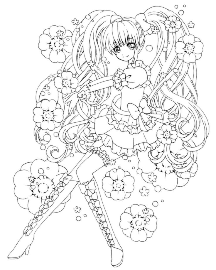 89 best Japanese Anime Coloring Page ぬり絵 images on