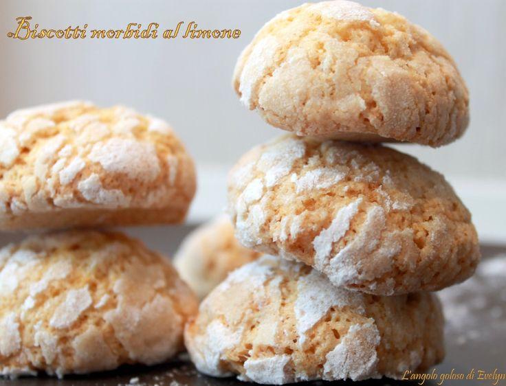 Biscotti al limone. Morbidi morbidi