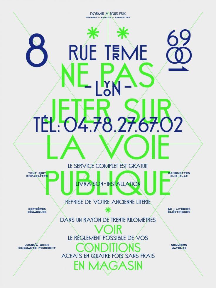 Beautiful Banal  Design graphique — affiche , typographie , 2010    Affiche réalisée pour l'exposition Beautiful Banal organisée à New York dans le cadre du Type Director Club 2010.  Sérigraphie 40 x 60 cm, 2 couleurs. Série limitée: 20 exemplaires