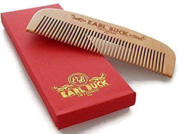 Earl Buck Peigne à barbe avec étui cadeau Design raffiné et luxueux. Idéal pour entretenir barbe et moustache