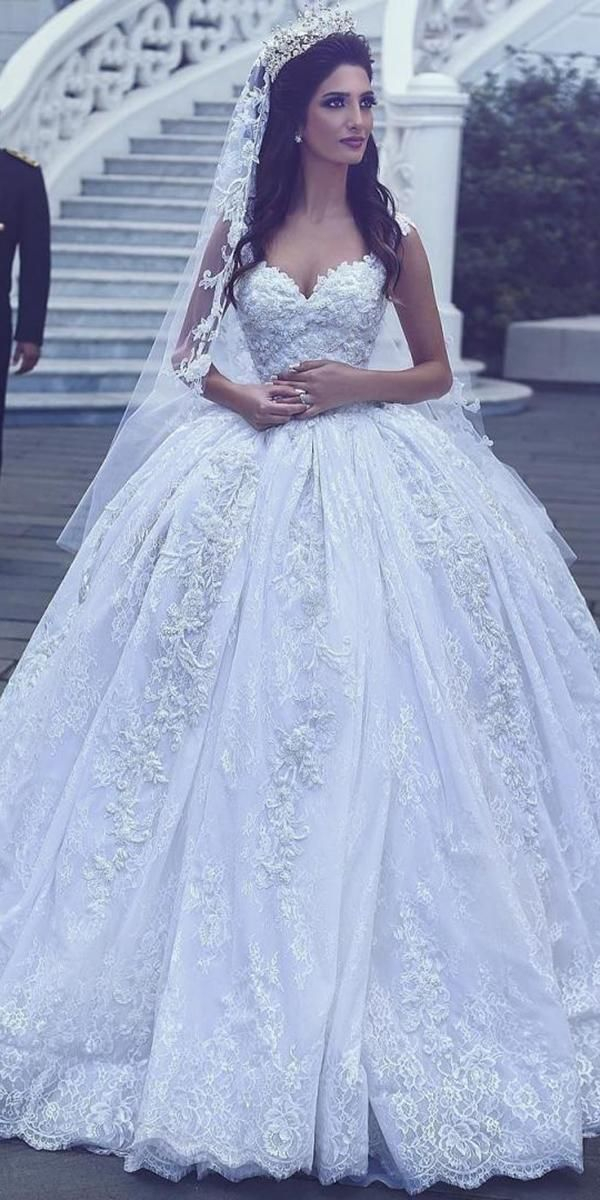 24 Lace Ball Gown Wedding Dresses You Love Wedding Dresses Guide Wedding Dresses Lace Ballgown Ball Gown Wedding Dress Tulle Wedding Dress