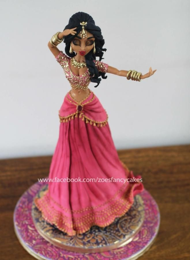 Bollywood Lady Cake by Zoe's Fancy Cakes - http://cakesdecor.com/cakes/263133-bollywood-lady-cake