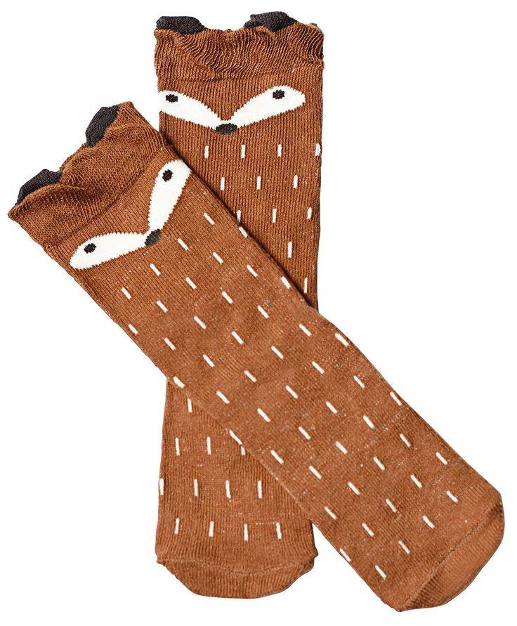 Ideal for 6months up to 4years of age, these darling fox socks are perfect for peaking out behind boots, or dressing up any attire! Their super soft and stretch