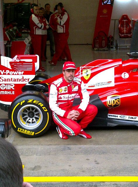 Fernando Alonso with the F138