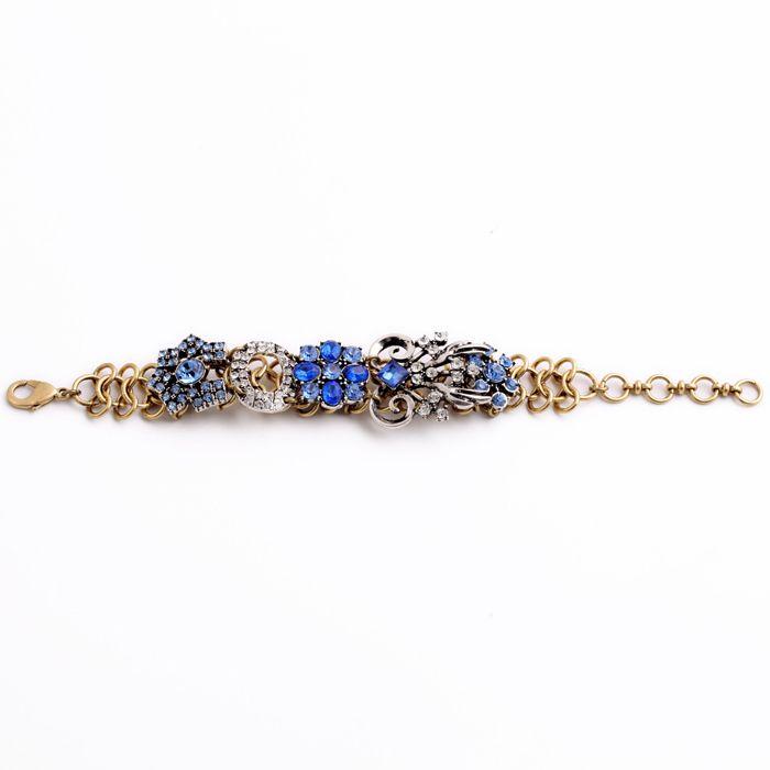 Купить товарБраслет синие кристаллы модные позолоченные цепи для женщин аксессуары классический Causual ювелирные изделия в категории Браслеты-талисманына AliExpress.     ShiJie Top Sale Jewelry Fresh Bright Gold Aquamarine Bracelet With Toggle -claspsUSD 3.33/pieceNewest Royally