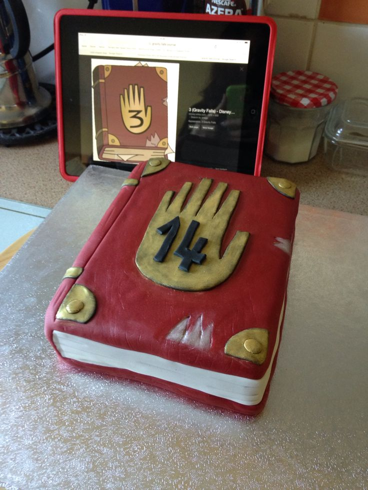 Gravity Falls Journal Cake Baking Fall Birthday