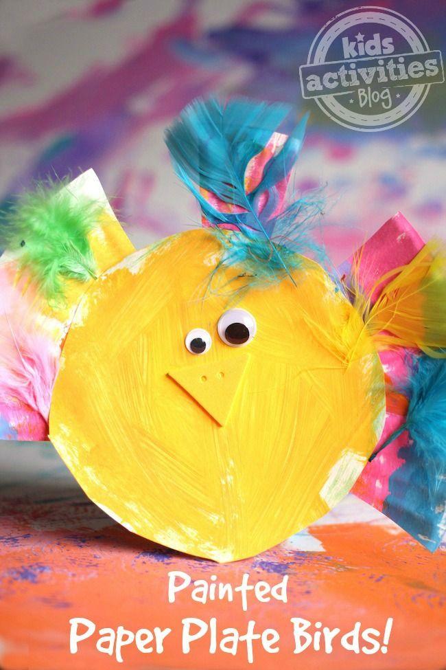 Paper Plate Bird Craft - What a cute craft!!!!!