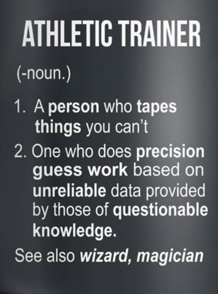 Definition of athletic trainer, Unbelievably accurate