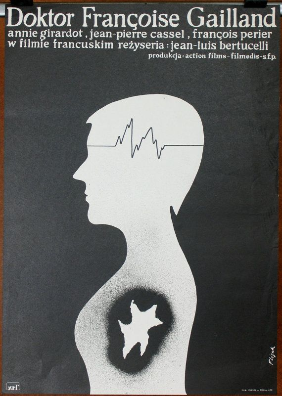Doktor Francoise Gailland .Old poster. French (1976) film 'Docteur Fra.. http://arnd.co/hSwX3