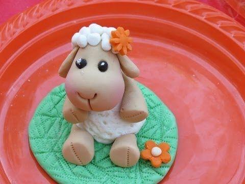 How to make fondant Nici sheep - tutorial by Annushka/הדרכה מצולמת לפיסול ניקי מבצק סוכר - YouTube