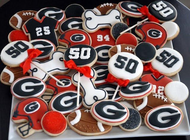 Rd 2 version of Gameday cookies- it's happening!  {GA Bulldog Cookie Platter}