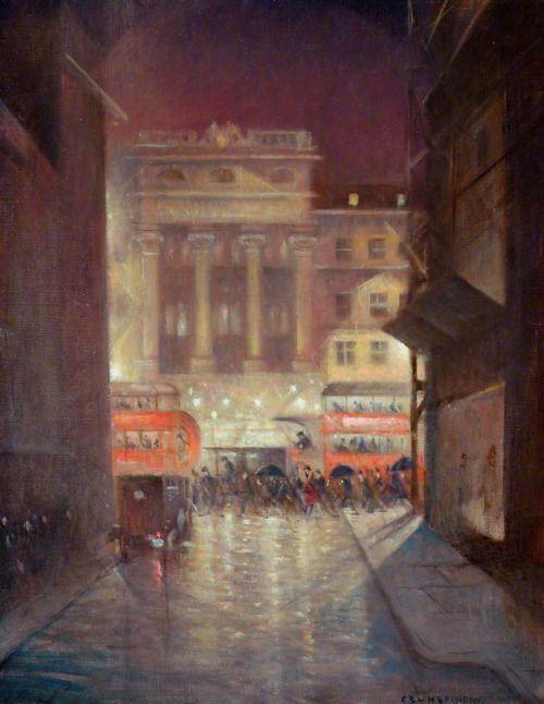 "wasbella102:  "" The Strand by Night - Christopher Richard Wynne Nevinson  """