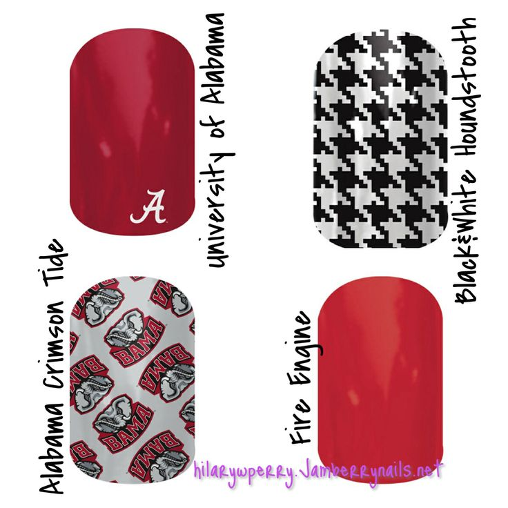 Alabama fans can take their spirit up a notch with these Jamberry nail wraps! Order at https://staycalmand.jamberrynails.net
