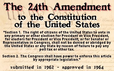 24th amendment to the us constitution defenders of the