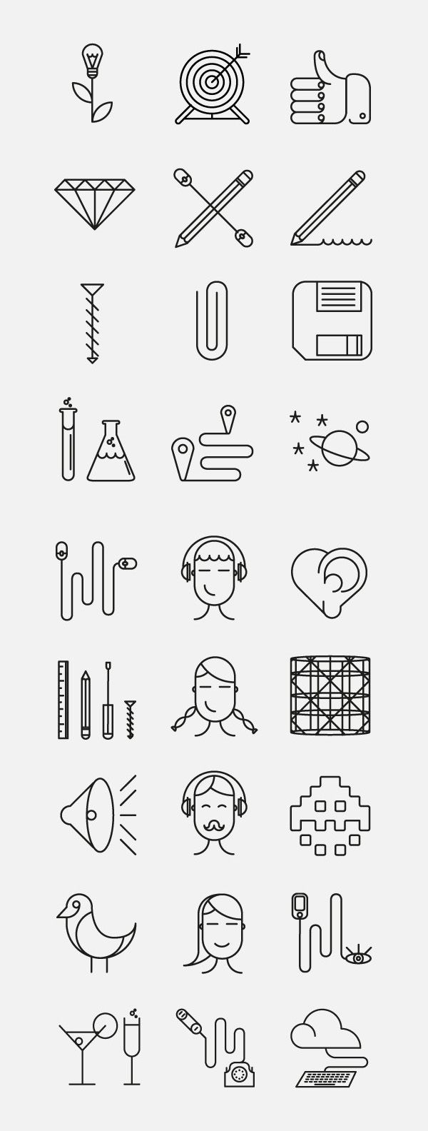 Superegg Icons by Dario Citriniti, via Behance