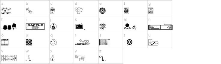 1000+ images about Dingbats on Pinterest | Sports fonts, Candy bags ...
