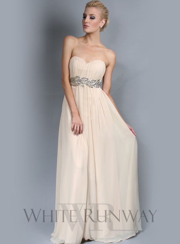 Grecian Strapless Bridesmaid Dress - $325