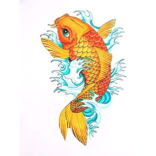 A Koi Fish Tattoo! I wanted one for so long! I love the meaning behind the koi fish!