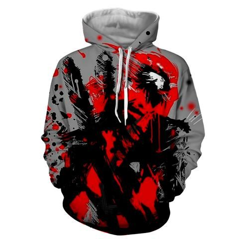 Deadpool Abstract Painting Design Stylish Winter Hoodie    #Deadpool #Abstract #Painting #Design #Stylish #Winter #Hoodie