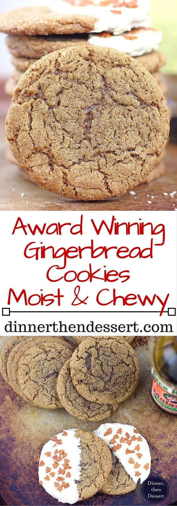 These Gingerbread Cookies will get you feeling festive and make your Christmas Cookie Exchange clamor for the recipe! Given to me by a family friend they have won three cookie competitions in less than 10 years!