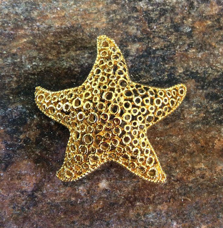 Starfish Brooch, Beach Wedding Brooch, Wedding Accessory by PassingTides on Etsy
