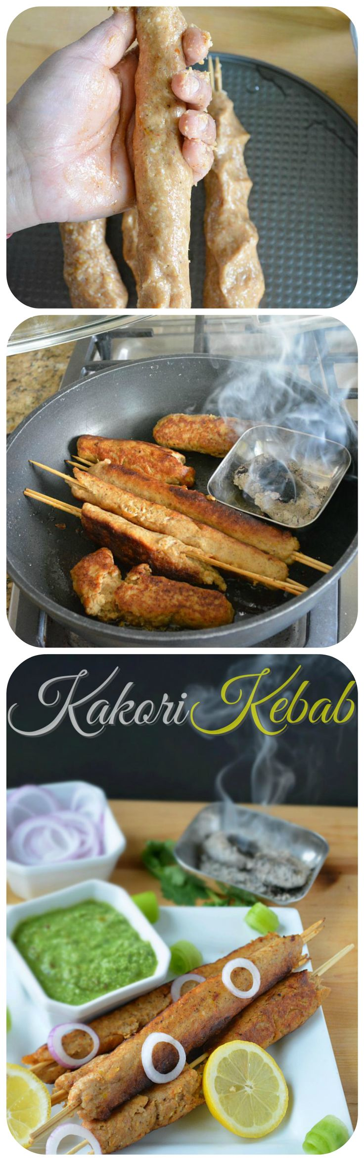 From the #Mughlai #Cuisine comes a #delicious #Kakorikebab #recipe - #Juicy and tender #kebab recipe where #minced #chicken combined with #aromatic #spices creates a lip-smacking and delicious kebabs. #kebab #kababrecipe #succulent #yummy #indiancuisine #indianfood #indianrecipes #appetizers #snacktime #nonvegsnacks ‬ ‪#‎succulent‬ ‪#‎yummy‬ ‪#‎indiancuisine‬ #homemade