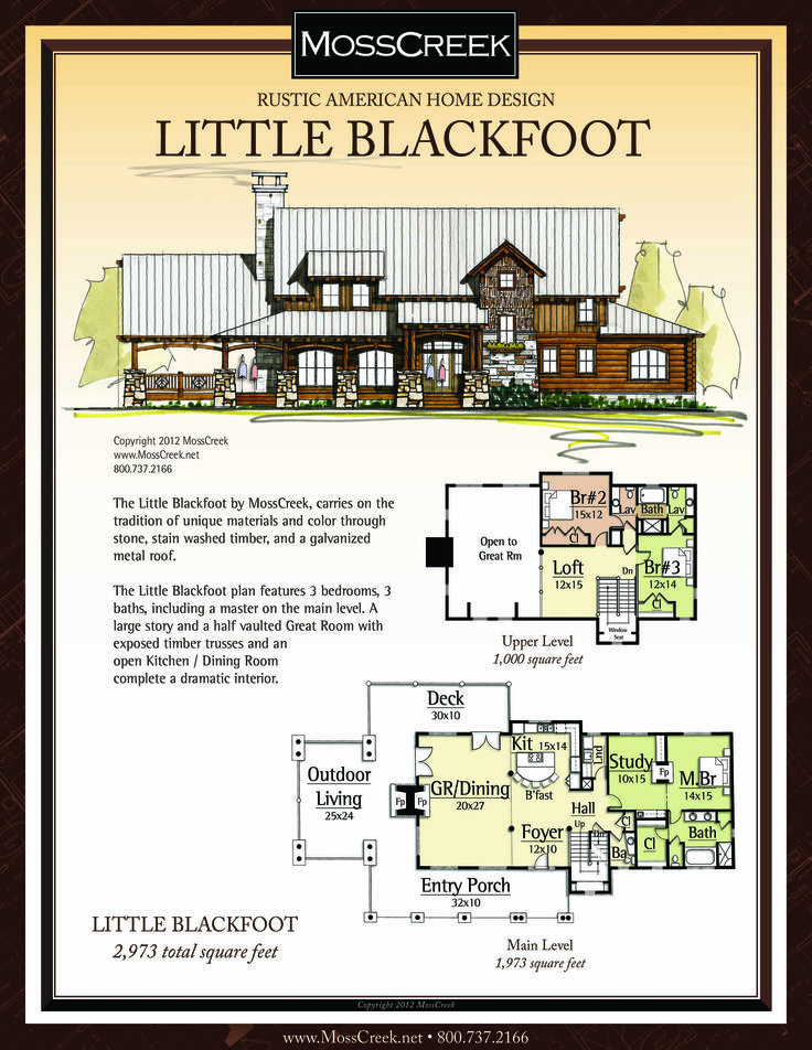 A Ready To Purchase 2,973 SF Home Plan From MossCreek.