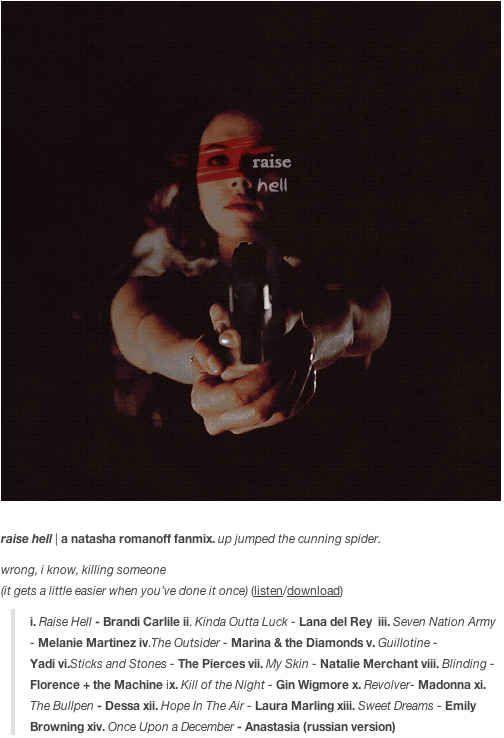 Raise Hell - Inspired by Natasha Romanoff (Avengers)
