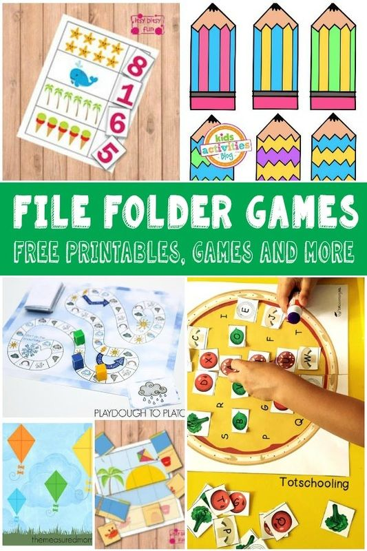 Lots of Fun and Free File Folder Games for Kids