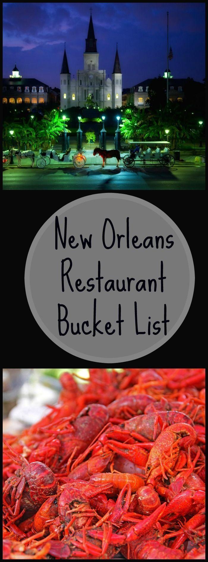 New Orleans Restaurant Bucket List