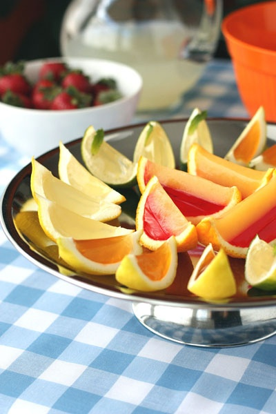 Fancy fruit jello shots for grown ups.