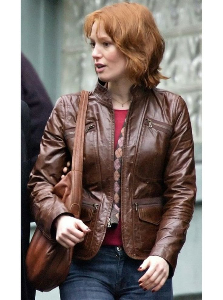 $215-MEGA SALE on Custom brown leather jackets from premium UK Leather online fashion store. 88 Minutes Kim Cummings Alicia Witt custom slim-fit brown leather jacket available in limited stock. FREE SHIPPING. High-quality leather. Value for Money. Durable finishing.