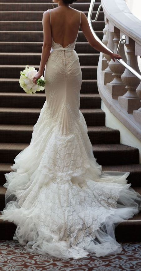 I Love The Back Of This Beautiful Backless Wedding Dress.