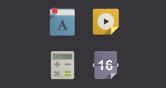 Flat design icons set vol 1 by Google flat icons