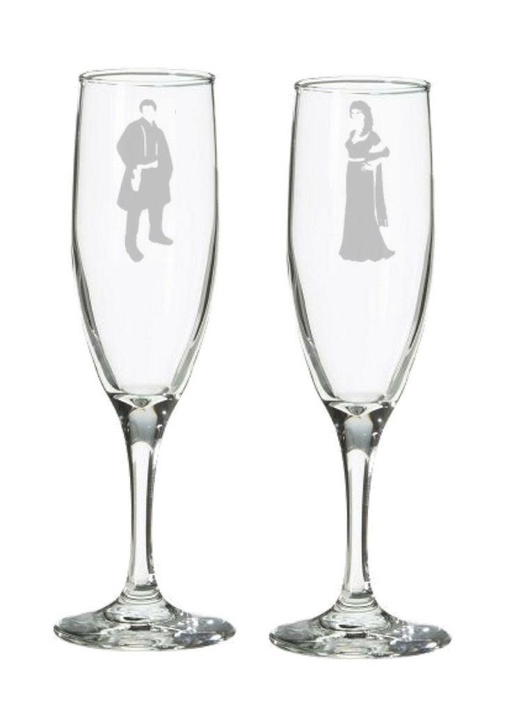 Mal & Inara Geek Wedding Champagne Flutes – Nerdy Toasting Glasses