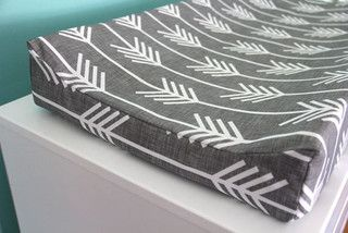 Charcoal Arrow Contoured Changing Pad Cover by Iviebaby - contemporary - changing tables - by Etsy